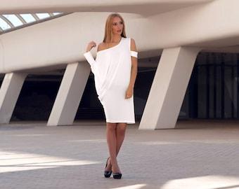 White Top, White, Tunics, Tunic Dress, Tunic, Tunic Top, Tunics, Loose Tunic, Plus Size Tunic, Womens Tunic, Oversized Tunic, Markiiza