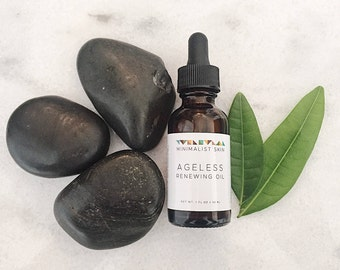 TEA TREE Ageless Facial Oil for Acne-Prone/Oily Skin with Rosehip & Carrot Seed- 1 oz | Natural, Organic, Vegan Anti-Aging Facial Serum