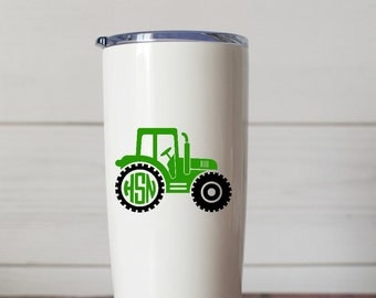 Tractor Monogram Decal