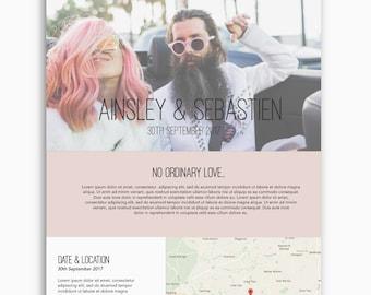 Bespoke wedding website, wordpress website, alternative theme, romantic theme, feminine theme, custom wedding website design, custom domain