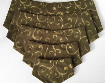 Green & Gold Swirl Dog Bandana