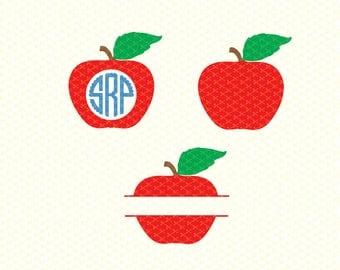 Teacher SVG, EPS, DXF, Png Cutting File, Apple Svg, Apple Monogram Svg, Teacher Monogram Svg, School Svg, love your teacher svg