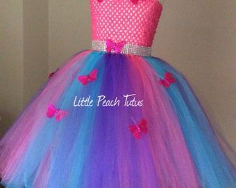 Rainbow Princess Tutu dress. Butterfly candy costume