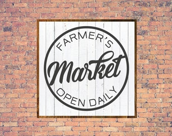 Farmers Market Sign, Market Sign, Magnolia Market Sign, Printable, Cuttable, SVG, Vinyl, Sticker, Digital File, DXF, Print, Cut File, Vector