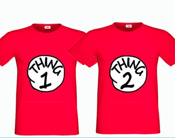 Printable Thing 1, Thing 2 Iron on Transfer, DIY Dr. Seuss Shirts, Dr. Seuss Birthday Party, Dr. Seuss , Instant DL