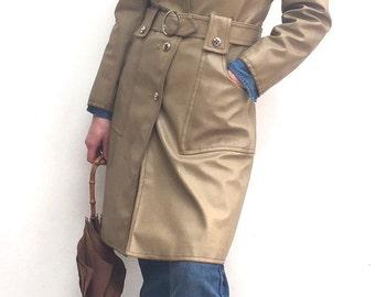 Vintage Camel Dannimac belted raincoat size 10