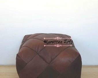 Moroccan Leather ottoman Pouf, pouf ottoman, 04