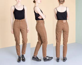 LEVIS 512 HIGH WAIST jeans Skinny Jeans 90s vintage brown tan women Size 6 / waist 27 inches