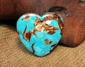 Reorganization Sale 30% off ~ Eye-catching Bornite & Blue Turquoise Heart