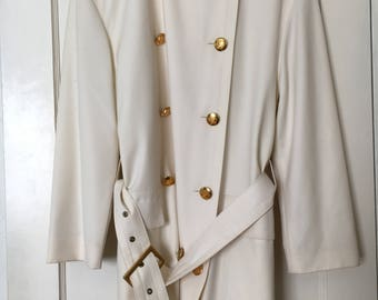 Escada ivory trench coat - wool - vintage