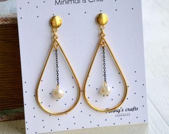 Teardrop Earrings|Minimal Earrings|Pearl Earrings|Delicate Earrings|Amazing Earrings|Dainty Earrings|Perfect Earrings|Outstanding Earrings