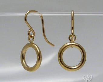 14k gold filled hoop earrings & French hook