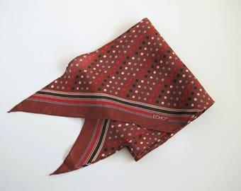 Vintage Silk Scarf, Ponytail Scarf