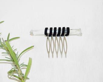 Minimalist quartz comb | Clear quartz hair comb | Quartz hair accessories | Crystal hair pins | Bun holder | Bun pin | Suede hair pin | Pins