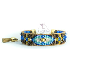 Gift for her * Loomed beaded bracelet - Sundance style by Suza