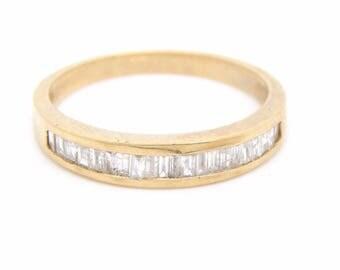 10K Yellow Gold 1.01 CT Baguette Diamond Band Ring