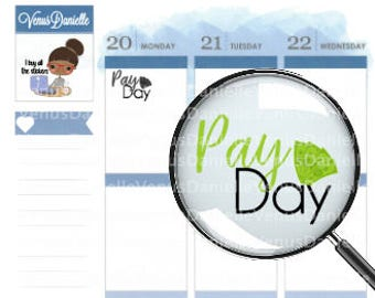 Payday Stickers, Payday Planner Stickers, Money Stickers, Pay Stickers, Finance Stickers