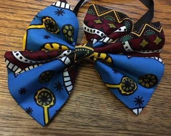 African Wax Print Butterfly Bowtie  (Necklace, Choker, Collar, Tie, Bow Tie, Accessories, African Print)