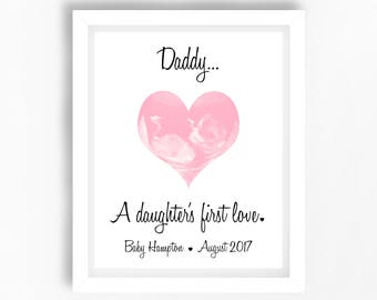 Personalised Gift from the Bump, Dad to be Xmas Gift, Dad's First Christmas Gift, Unique Dad Gift, Ultrasound Gift, From Bump to Dad