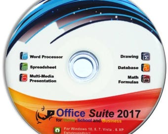 Office Suite 2017 CD with PDF software, for Home Student Professionals and Business, Compatible with Microsoft Office for Windows 10 8 7