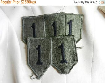 Easter Sale 5 Vintage Vietnam 1st Infantry Division Big Red One Patches