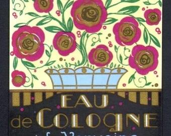 25% SALE Original Vintage French Perfume Bottle Label J. Giraud fils Grasse Paris 1920s Art Deco
