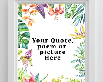 Personalised gift printable, digital download, printable home decor, modern printable art