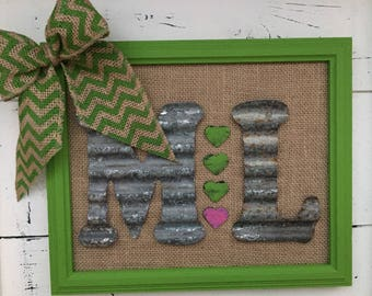 Personalized monogram frame