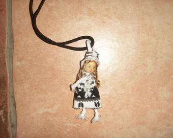 Necklace mini doll