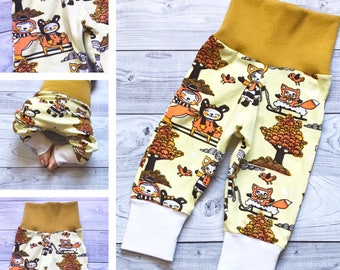 MADE TO ORDER - Baby Pants - Baby Boy Pants - Baby Girl Pants - Fall Baby Clothes - Halloween Baby - Animal Baby Clothes