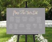 Blush Wedding Seating Chart, Wedding Seating Chart, PRINTABLE Wedding Seating Chart, Find Your Seat Sign, Rose Gold Wedding
