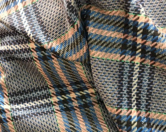Wool check fabric prince de galles pattern prince of Wales check suiting fabric pure wool suiting jacketing brown pink blue
