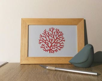 "Frame for ""coral bouquet"" kirigami * hand cutting *."