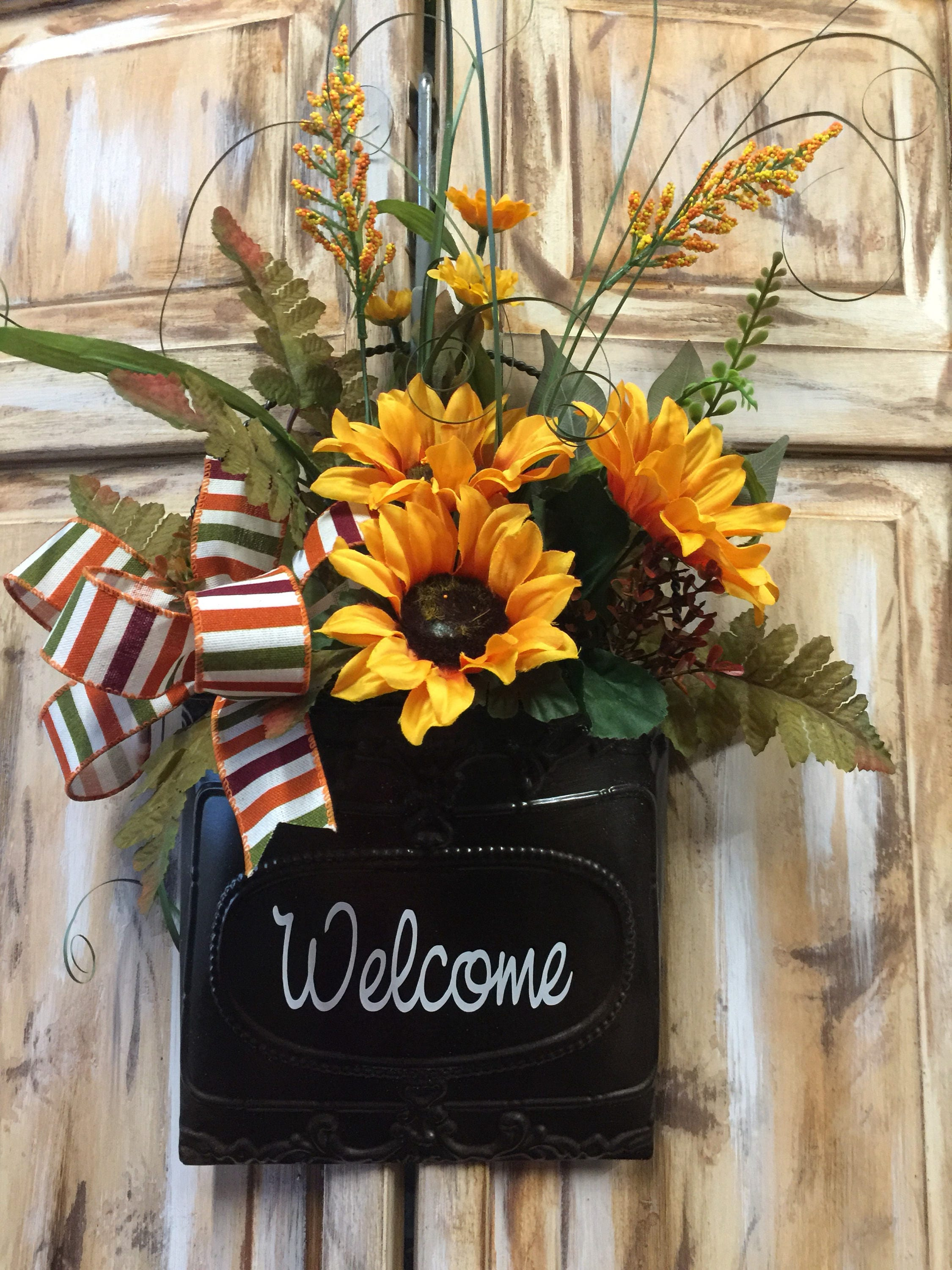 Fall Sunflower Door Hanger