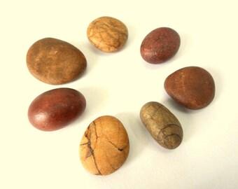 Beach Pebbles, Beach Stones, Sea Stones, Stone Beads, Patterned Pebbles