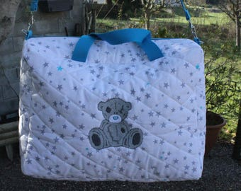 New diaper bag rectangular quilted.