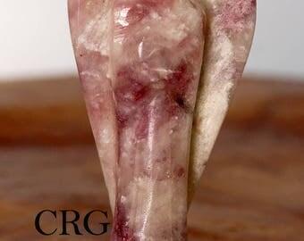 "Carved Lepidolite Gemstone Angel - 1.75""-2"" (AN17DG)"