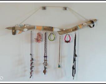 Mediterranean Driftwood - unique wall jewelry display