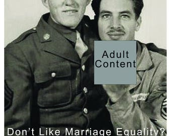 Marriage Equality, Gay Marriage Card, Gay Marriage, Vintage Photo, Vintage    ****VMEW1005