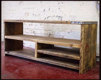 MILLER | Reclaimed Wood TV Unit / Media Unit / TV Stand / Console Table / Scaffold Table - Handmade & Bespoke