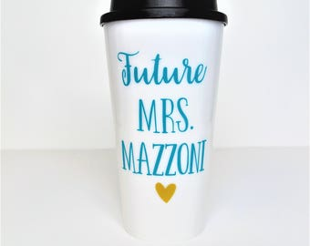 Future Mrs Coffee Cup // Engagement Gift // Engagement Coffee Mug // Future Mrs Gift // Bridal Shower Gift // Gift for Bride to be