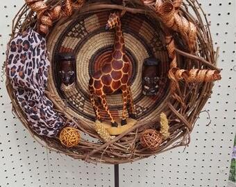 Giraffe Wreath Etsy
