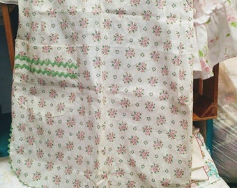 Vintage apron Shabby Chic Cottage Chic Prairie Roses