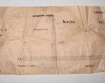 Vintage Order for the Receipt by a Latvian State of a Citizen of LVL 90. 1941