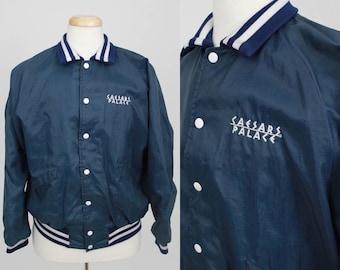 SUMMER SALE Vintage Vegas Caesars Palace Track / Snap Front Jacket