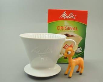 Vintage Melitta coffee filter 102, Mid Century Germany, retro Kitchen