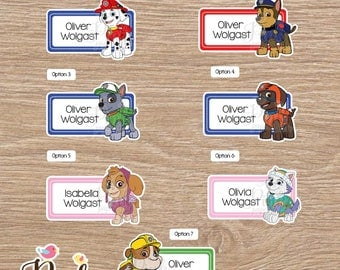 Paw Patrol School name labels • Labels for school • School labels • Stickers for kids • This belong to stickers • labels school supplies