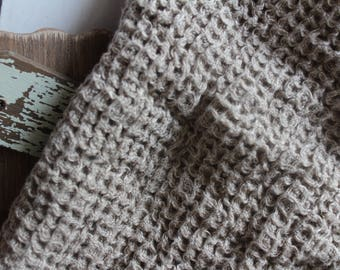 Linen throw, Luxury Linen Blanket, Bed cover,waffle textured, linen bedding,rustic, modern living, rustic linen bedding, softened linen
