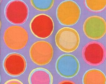 FREE SPIRIT artisan paint orange spots fabric
