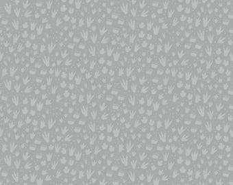 1 Yard Fossil Rim by Deena Rutter  for Riley Blake Designs-6615 Footprint Gray